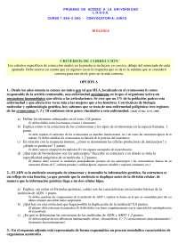 Prueba de acceso a la universidad - LOGSE - 17 - Exámenes - Biología