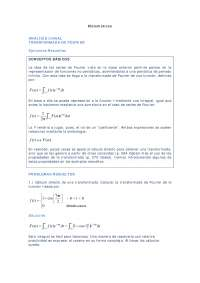 Ejercicios resueltos análisis lineal transformada de Fourier, uned análisis