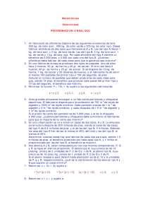 Programación lineal - Exámenes selectividad - Matemáticas