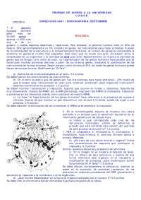 Prueba de acceso a la universidad - LOGSE - 15 - Exámenes - Biología