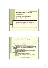 Appunti di Sistemi Elaborativi Informatici 1 - Introduzione