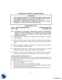 Credit Management-Business Managment-Assignmnet