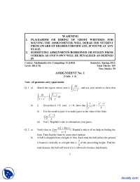 Mathematics for Computing II-Computer Science-Assignment