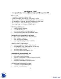 Neighborhood Environment and Environmental Problems-Ecological Design-Assignment