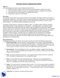 Persuasive Speech Assignment Description-Communication Skills-Lecture Notes