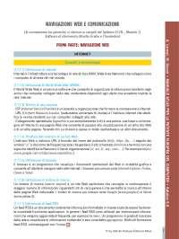 Informatica - patente syllabus - 7 - navigazione web e comunicazione