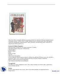 Children Magazines-Magzine Journalism-Lecture Handout