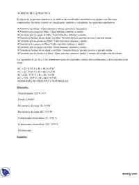 Análisis de un rectificador monofásico en puente - Prácticas - Instalaciones Eléctricas - Ingeniero Técnico Industrial