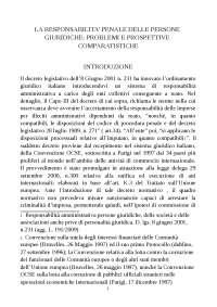 Tesi sulla responsabilità delle persone giuridiche di Pietro - Diritto Penale