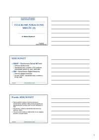 SDH SONET-Telekomunikacione mreze-Skripta