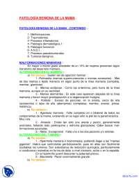 Patología Benigna de la mama - Fisiologia Fetal - Apuntes - Obstetricia