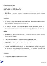 Semiologia Respiratoria - Apuntes - Semiologia