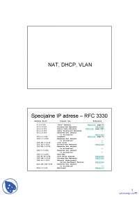 NAT, DHCP, VLAN-Racunarske mreze 1-Vezbe-Eelektrotehnicki fakultet