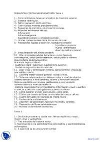 Neuroanatomía - Examen Parcial de Anatomía