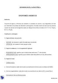 Semiologia sanguinea - Apuntes - Semiologia