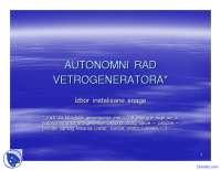 Autonomni rad vetrogeneratora-Opsta energetika-Slajdovi-Elektrotehnicki fakultet 17
