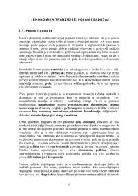 Pojam i sadrzaj-Skripta-Ekonomika tranzicije-Slajdovi-Ekonomski fakultet