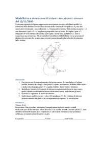 Esame di modellistica e simulazione di sistemi meccatronici - 13/11/2009