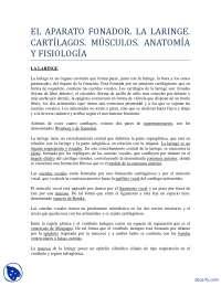 Aparato Fonador - Apuntes - Anatomía