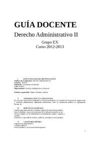 guia docente de Administrativi II GR:Ex