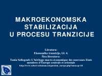 Makroekonomska stabilizacija u procesu tranzicije-Slajdovi-Ekonomika tranzicije 1-Ekonomski fakultet