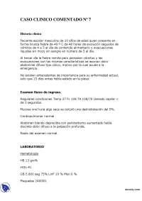 Brusca Fiebre - Caso Clínico - Clínica Médica