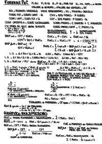 Formule Programmazione e Controllo - Appunti di Analisi