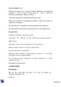 Fiebre Elevada - Caso Clínico - Clínica Médica , Ejercicios de Clínica Medica