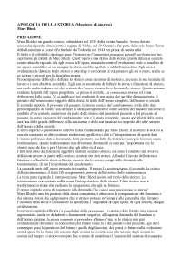 Riassunti di Storia Contemporanea prof Maida (Apologia della storia -  Marc Bloch)