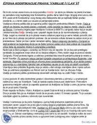 Epoha kodifikacije prava-Vasilije I i Lav VI-Beleska-Istorija Vizantije-Filozofski fakultet