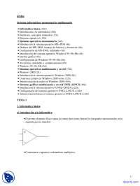Sistemas Informáticos Monousuarios y Multiusuarios - Apuntes - Sistemas Informáticos Monousuario Y Multiusuario