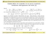 Slide - Fisica Generale I - Lezione 06 - Caduta libera in un mezzo resitente - A