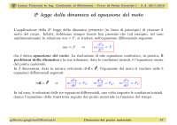 Slide - Fisica Generale I - Lezione 05 - Legge della dinamica ed equazione del moto - A