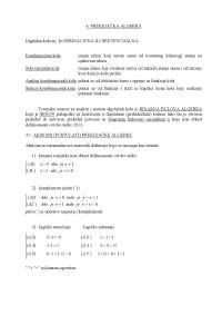 Prekidacka Algebra-Osnovi digitalne elektronike-Skripta-Elektrotehnicki fakultet