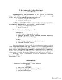 Fizicka antropologija-Beleska-Arheologija-Filozofski fakultet