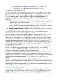Il mondo contemporaneo dal 1848 ad oggi - Appunti di Storia Contemporanea - Sabbatucci-Vidotto