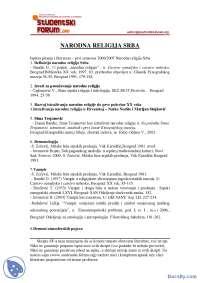 Lliteratura_i_Pitanja_za_2006_prvi_semestar-Ispit-Narodna religija Srba