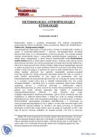 Funkcionalni metod I-Skripta-Metodologija Etnologije i Antropologije