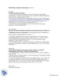II deo Ivanovic-Skripta-Metodologija Etnologije i Antropologije