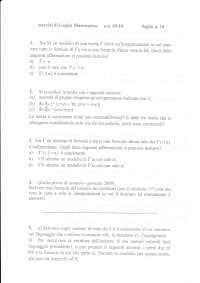 Esercizi di logica matematica