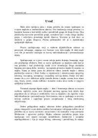 Dete u predškolskoj ustanovi-Seminarski rad-Pedagogija i Psihologija