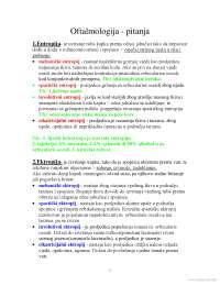 Skripta po ispitnim pitnajima-Skripta-Oftalmologija-Medicina