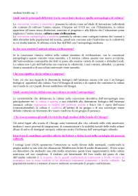 Domande per l'esame di Sociologia dei processi culturali - Sciolla