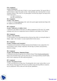 Introduction To Color - Humanities and Social Sciences - Assignment