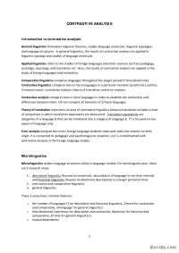 CONTRASTIVE ANALYSIS-Skripta-Kontrastivna analiza 4-Engleski jezik i knjizevnost
