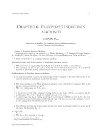 Chapter 6 polyphase induction machines, college study notes - Polyphase induction machines