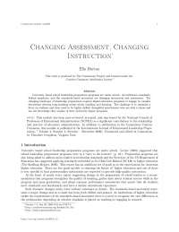 Changing assessment,changing instruction
