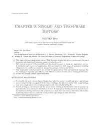 Chapter 9- single- and two-phase motors, college study notes - Single-phase induction motors