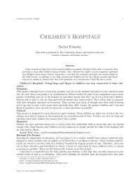 Children's hospitals, college study notes - Children's hospitals