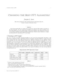Choosing the best fft algorithm, college study notes - Choosing an fft length